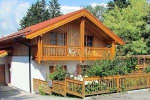 Aussenansicht Ferienwohnung Landhaus am Steinberg Wörthsee Fünfseenland, Bayern