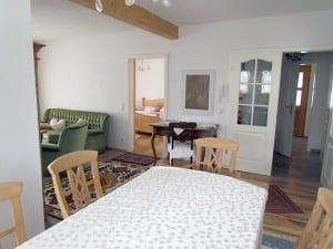 Landhaus am Steinberg - Innenansicht Ferienwohnung Wohnbereich