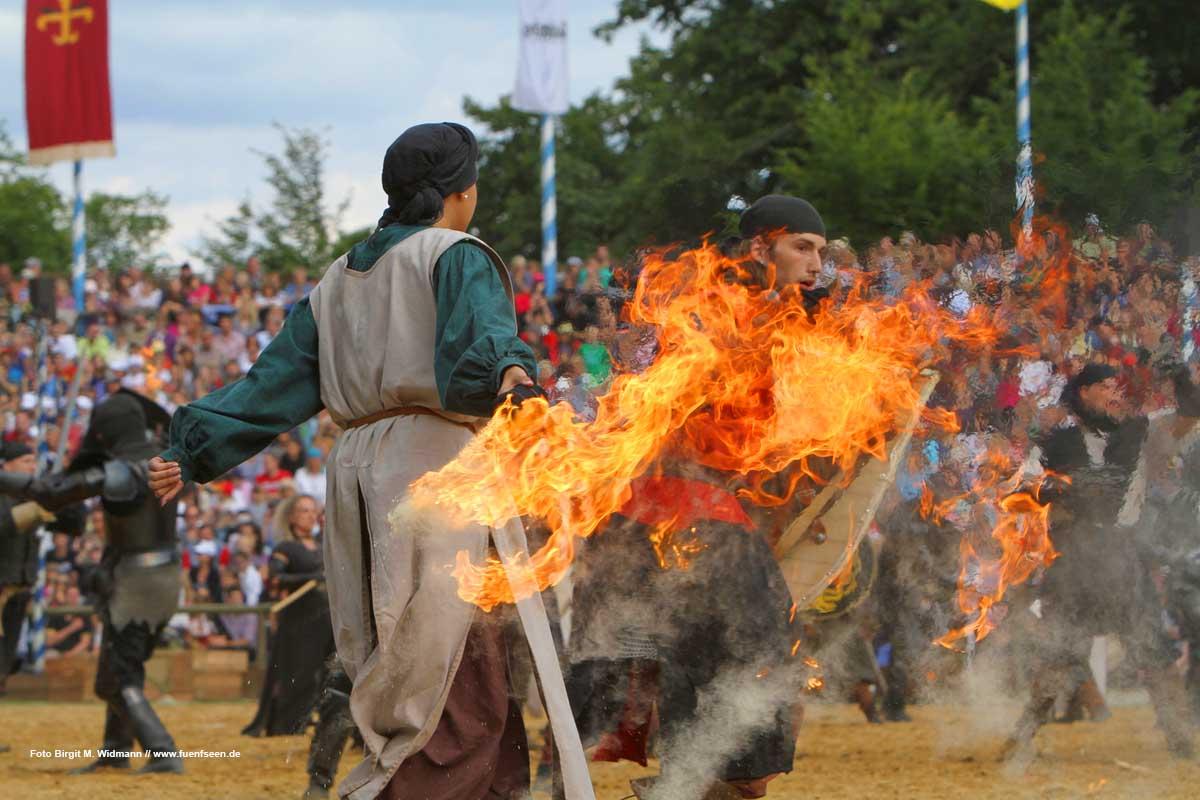 Jährlich im Juli auf Schloss Kaltenberg - die Kaltenberger Ritterspiele