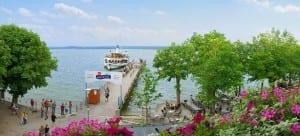 Blick von der Hochzeitssuite auf dem Ammersee vom Hotel Seehof in Herrsching