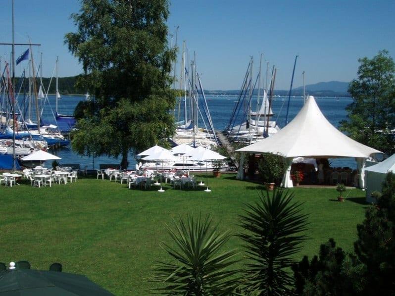 Yachthotel Chiemsee Hochzeit mit Berg. und Seeblick
