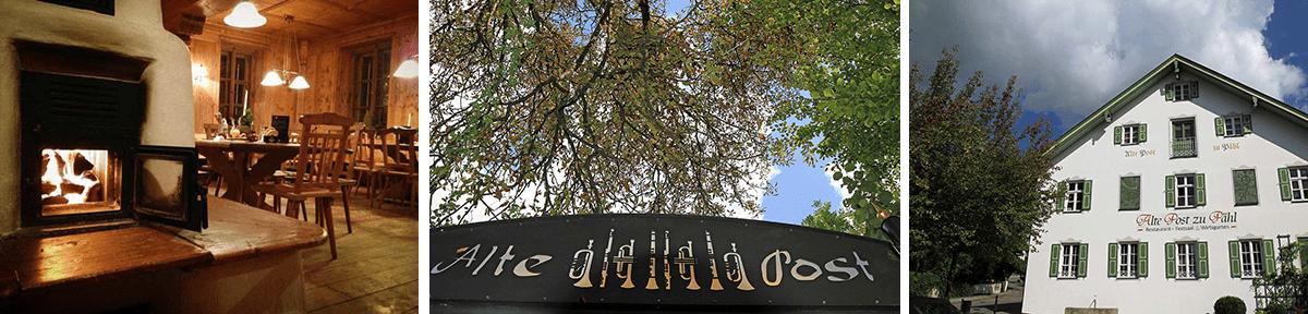 Alte Post zu Pähl Ammersee Hotel, Restaurant und Blick in den Biergarten