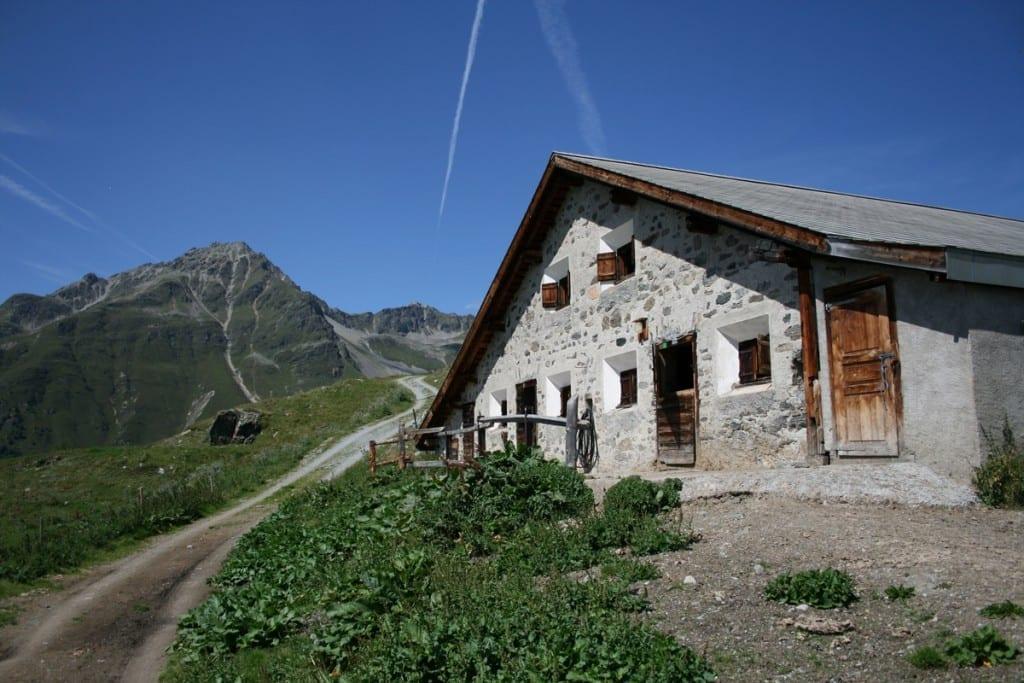Alp Sura auf dem Engadiner Höhenwanderweg