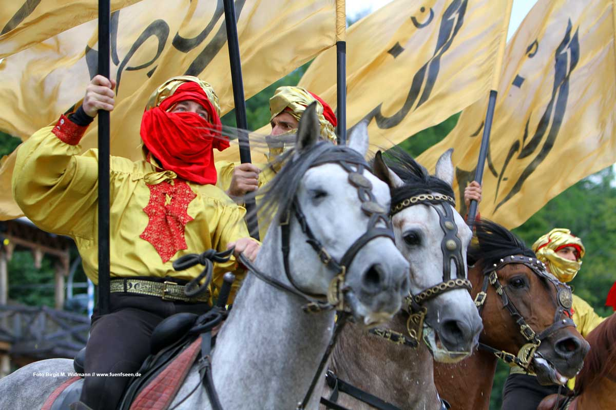 Reiter auf dem Kaltenberger Ritterturnier