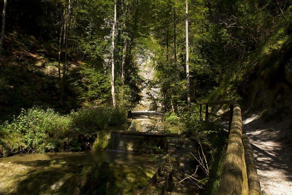 Wanderweg zum Plötzer Wasserfall