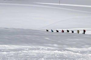 Schneeschuhwandern im Fünfseenland