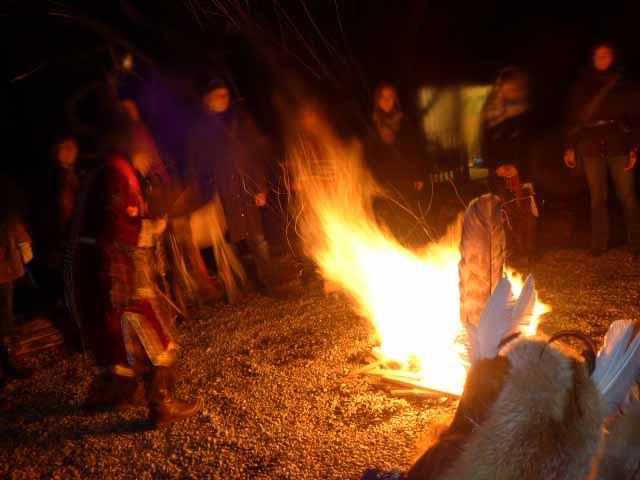 Feuerritual am Ammersee in Wartaweil 25.11.2016