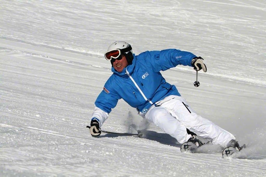 Sportfotografie - Birgit M. Widmann auf der Zugspitze