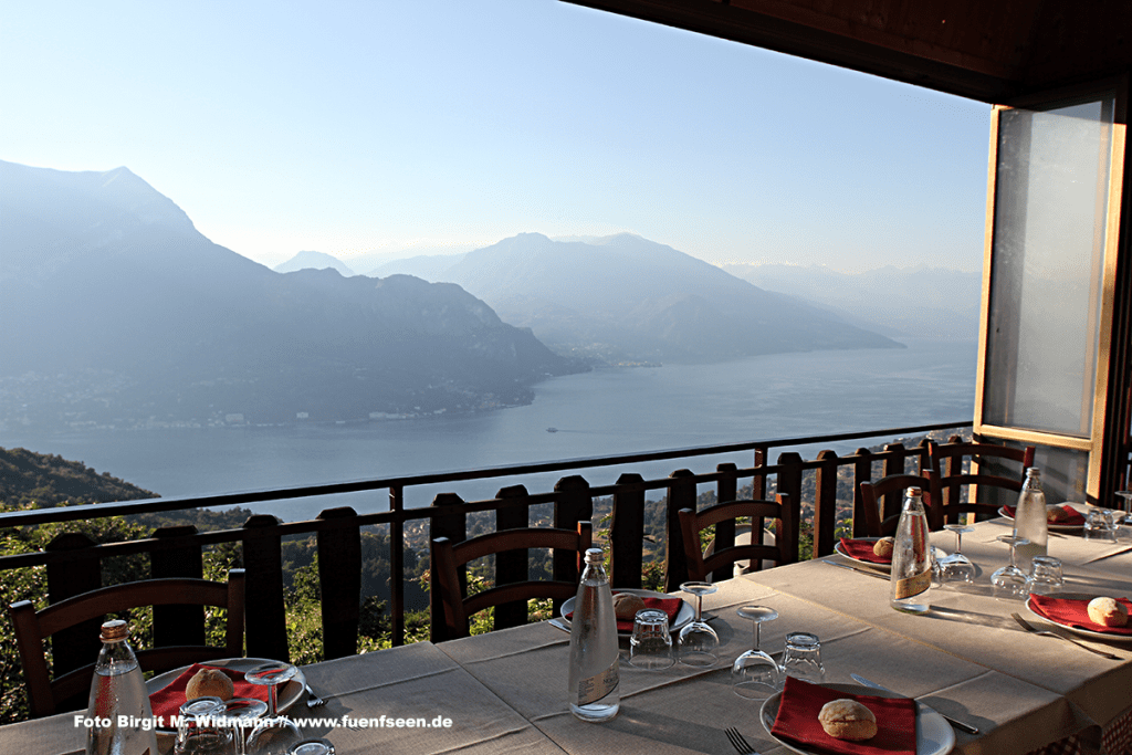 hoch über dem Comer See Trattoria Baita Belvedere