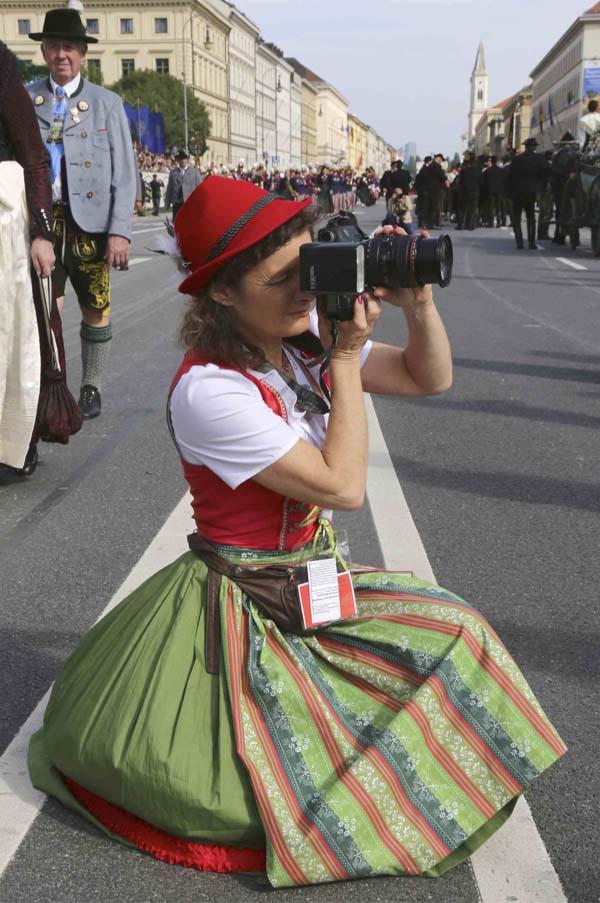 Fotografin beim Oktoberfest