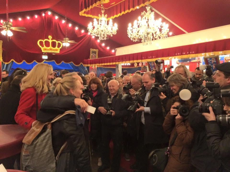 Birgit unter Fotojournalisten