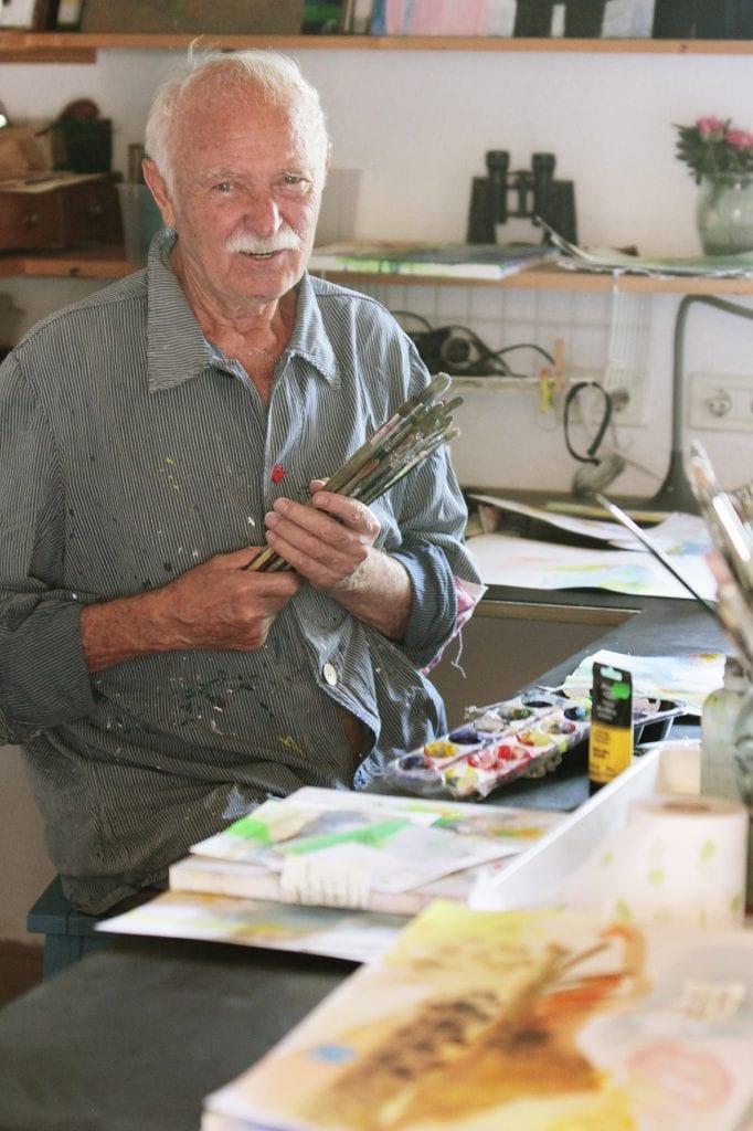 janosch heute in seinem Atelier in Teneriffa